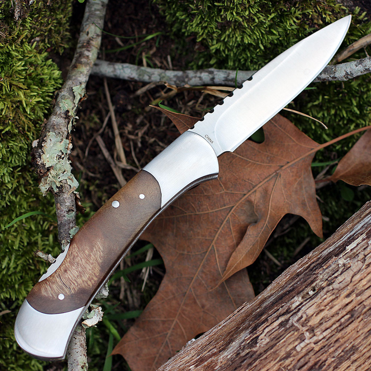 "Browning Lockback, 4"" Closed, Burl Wood Handles"