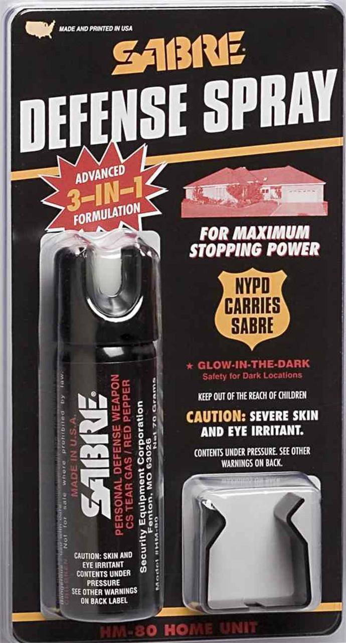 Sabre Home Defense Spray 2.5 oz with Mount