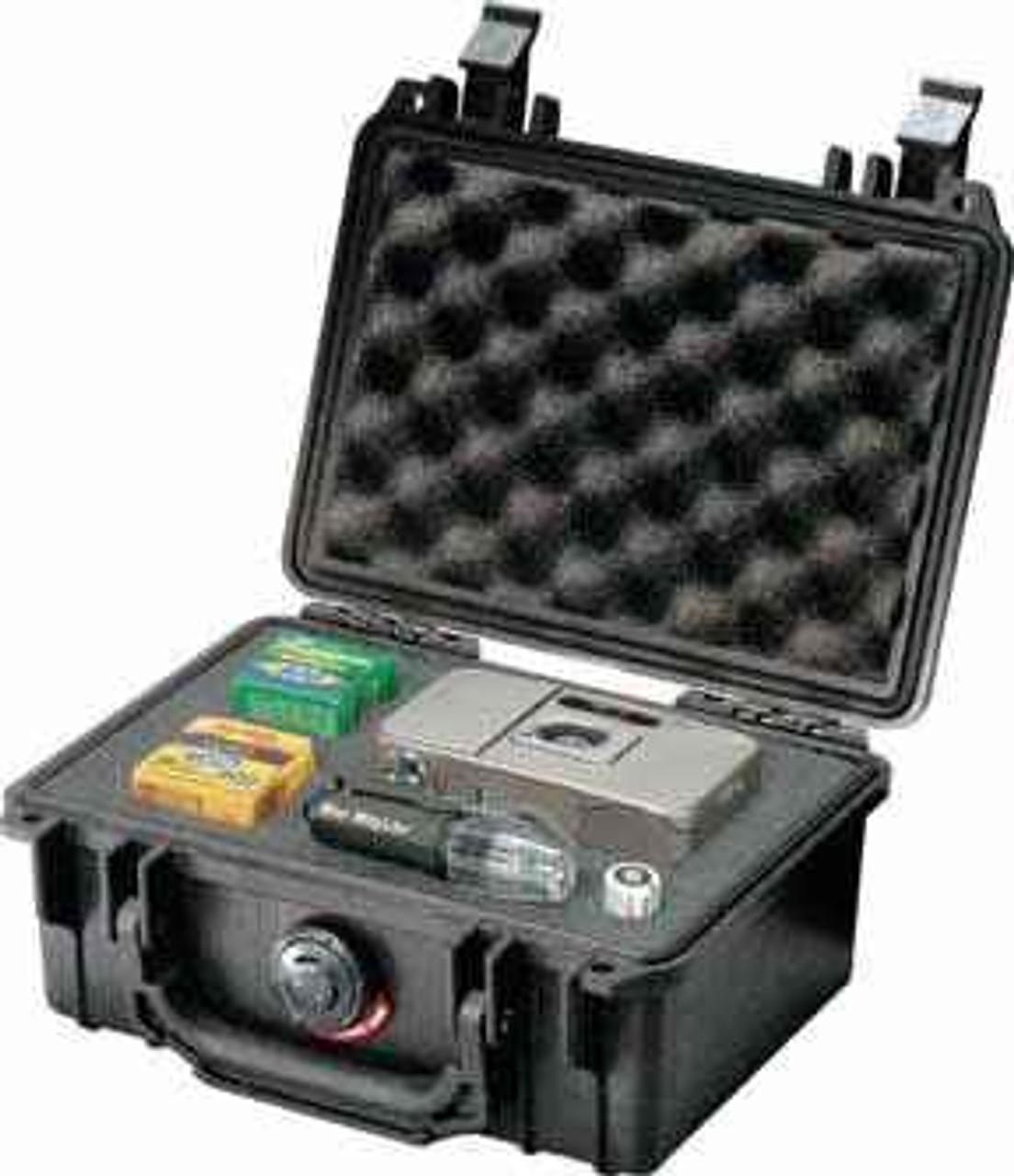 "Pelican Protector Case. Interior measurement 7 3/8"" x 4 7/8"" x 3 1/16""."