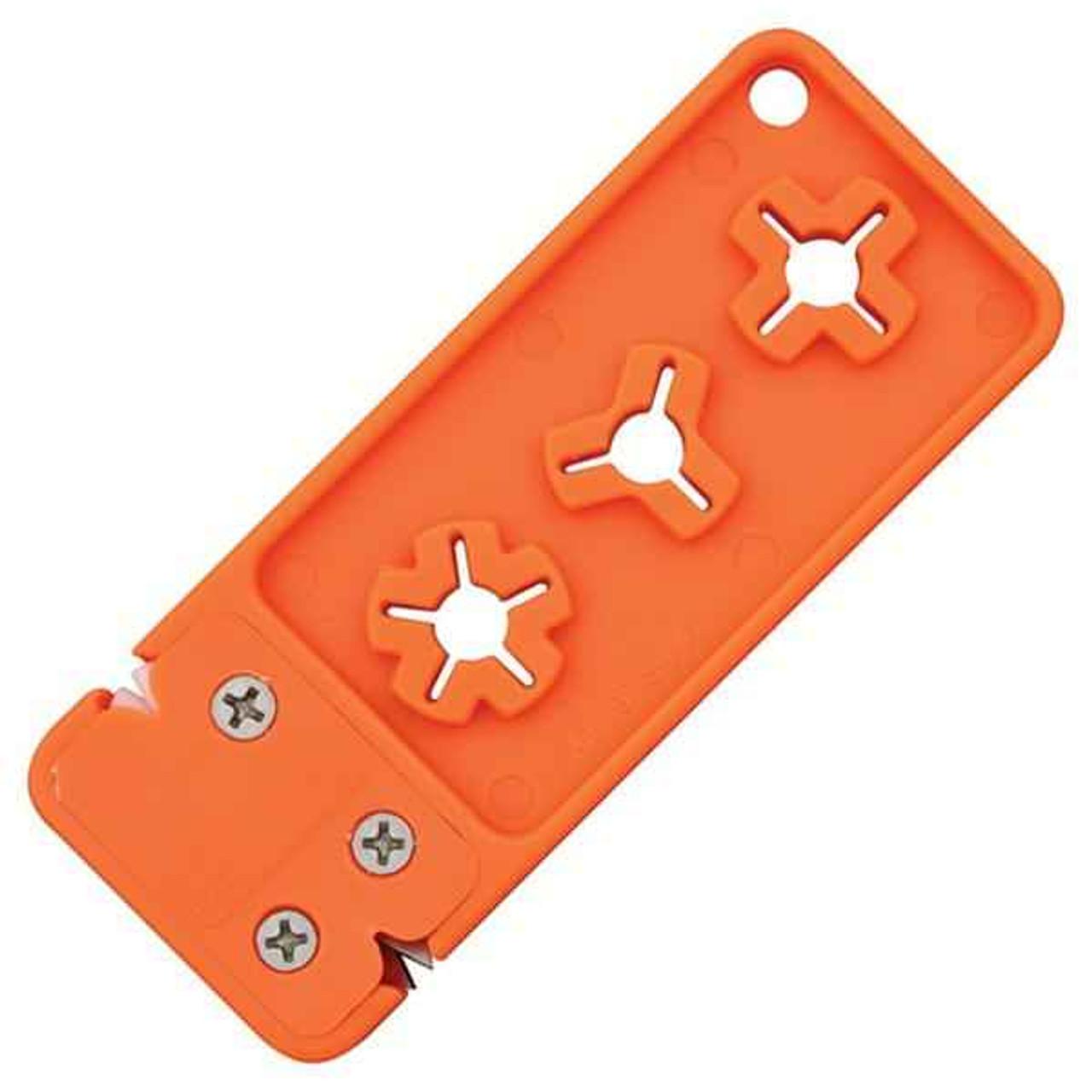 AccuSharp AS13 Broadhead Sharpener & Wrench, Orange