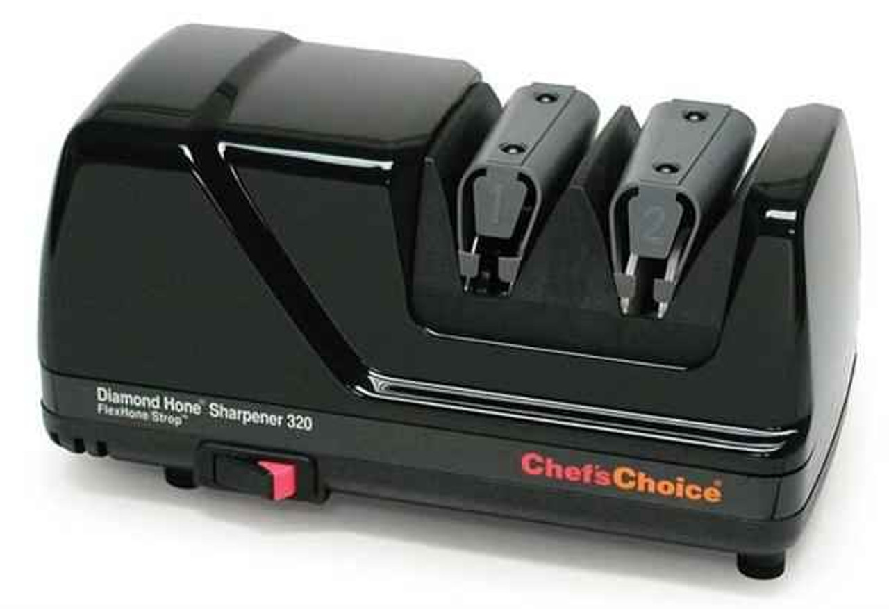 Chef's Choice 320 FlexHone/Strop Professional Knife Sharpener, Black