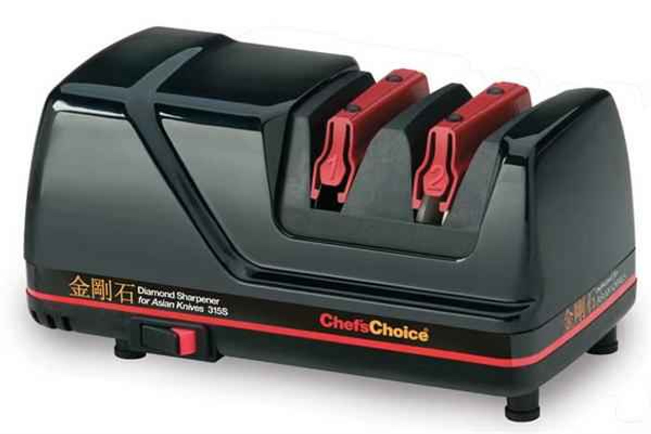 Chef's Choice 315S Diamond Sharpener for Asian Knives (Accommodates Larger Blades)