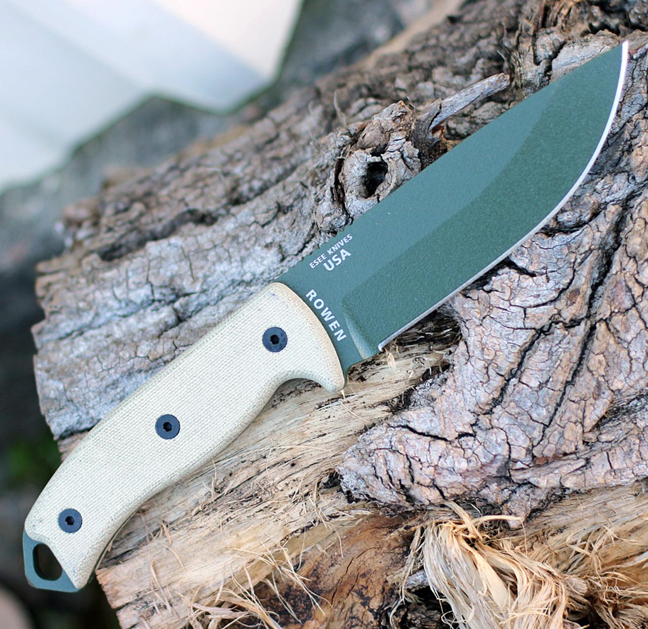 ESEE Knives, 5P-KO-OD, OD Green Blade, Plain Edge, Micarta Handle, Knife Only, No Sheathing