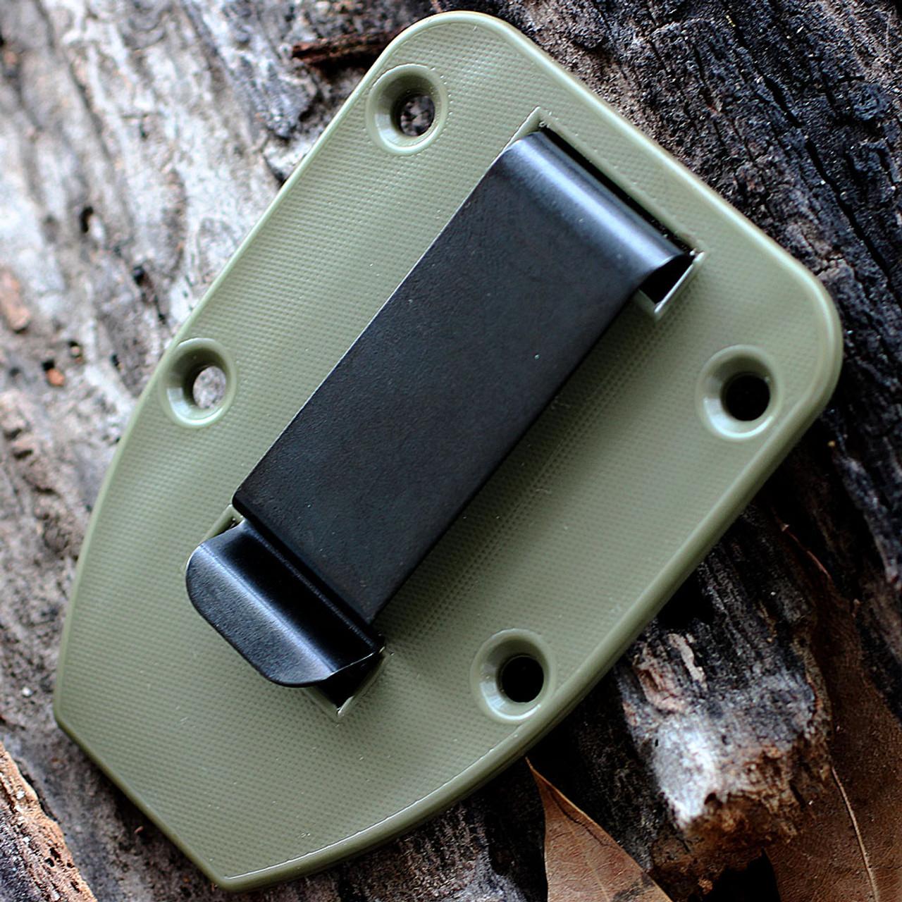 ESEE 3PM-DT, Plain Edge, Modified Pommel, Foliage Green Sheath