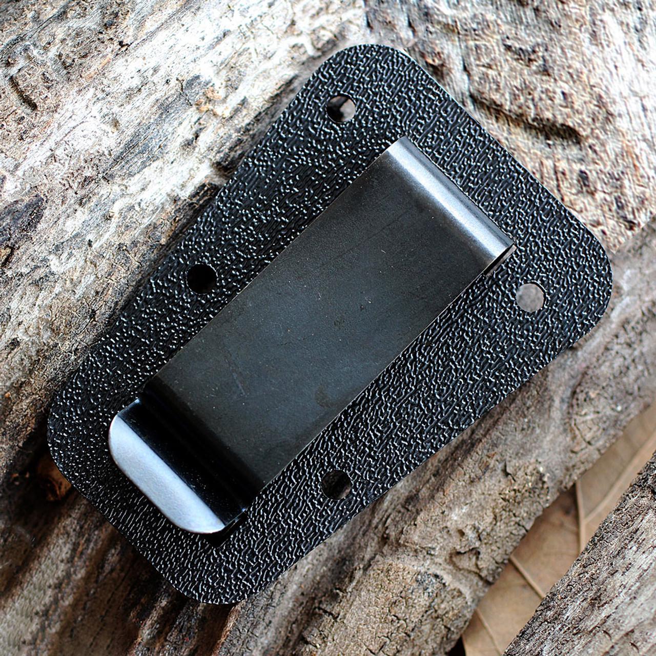 ESEE IZULA Knife, Desert Tan, Concealed Carry Knife, Clip Plate