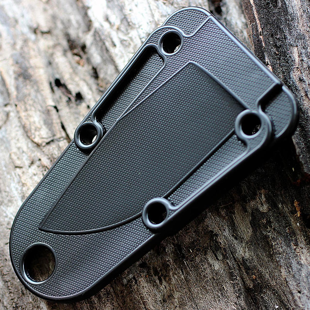 ESEE Izula II Tactical Gray Knife, Molded Sheath and Clip Plate