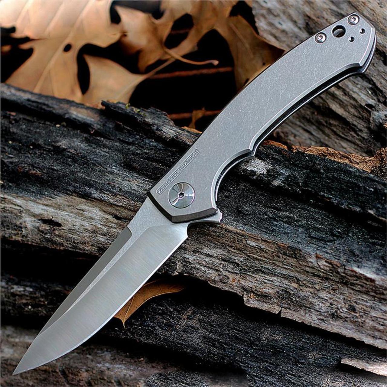 """Zero Tolerance 0450 Sinkevich, 3.25"""" S35VN Plain Blade/Titanium Handle"""