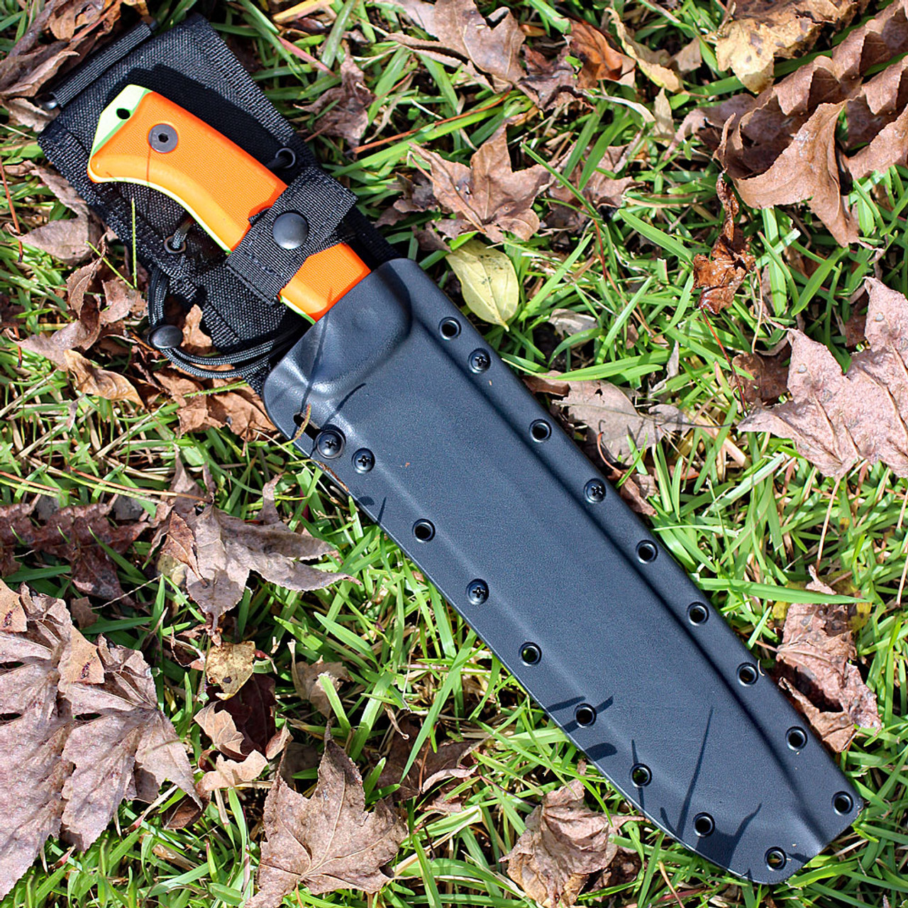 ESEE Junglas, Orange G10, Venom Green Blade