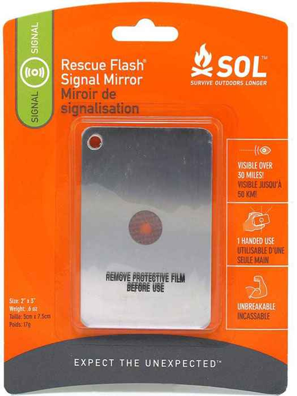Adventure AD0140-1003 Medical Kits Rescue Flash Signal Mirror