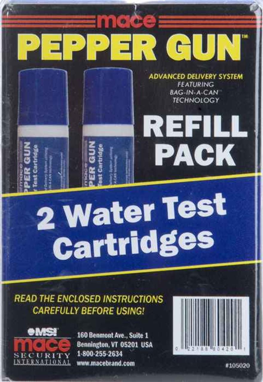 Mace PepperGun Refill Cartridges - 2 Water Test Cartridges Pack