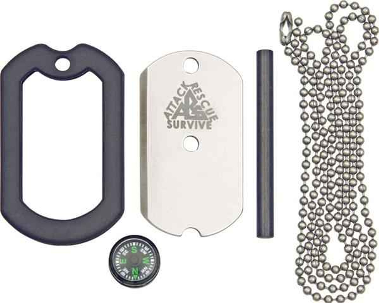 Dog Tag Deluxe Survival Knife, DT002 , 440C SS, Protective Sheath