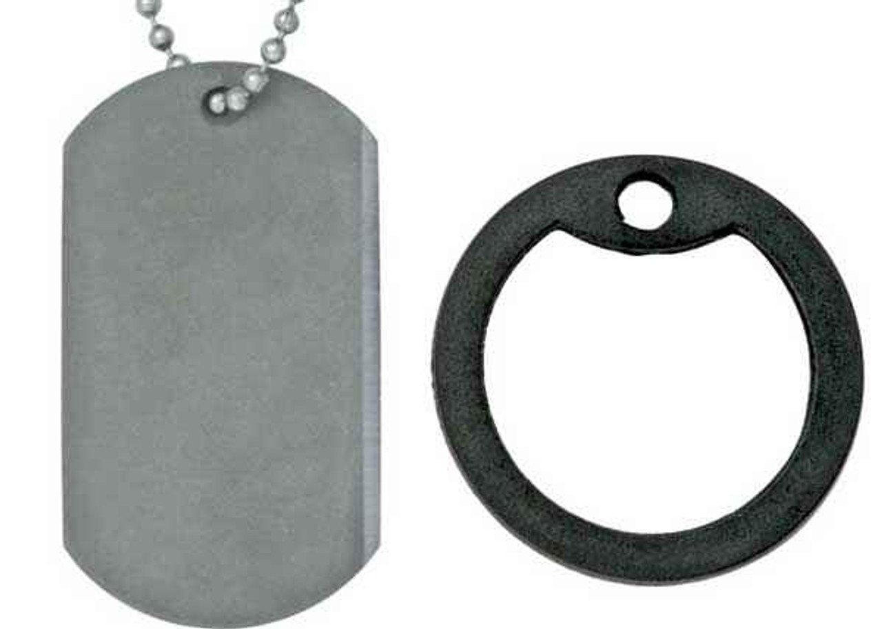 The Original Dog Tag Knife, Titanium Blade, Black Rubber Frame, DT001