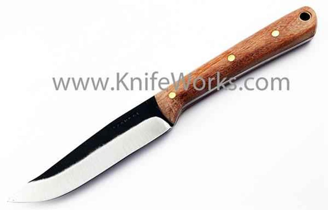 Condor Tavian Knife, Carbon Steel Blade, Hardwood Handle, w/ Leather Sheath