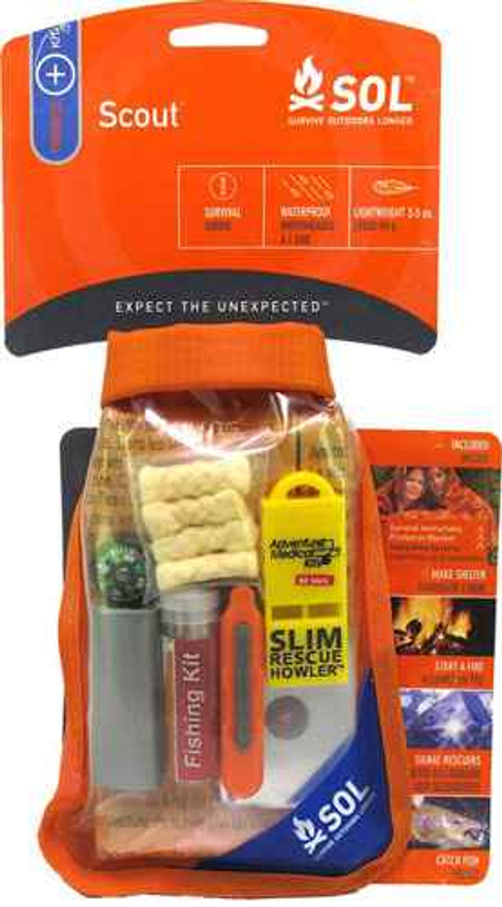 Adventure AD0140-1727 Medicl Kits S.O.L Scout Survival Pack