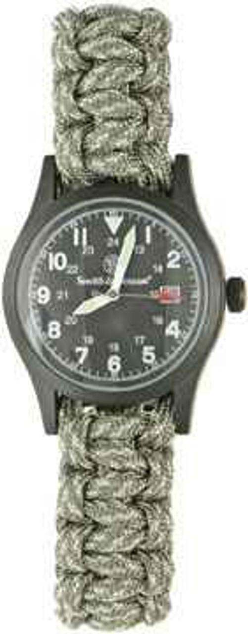 Para Cord Survival Bracelet/Watch. Digital Camo. Size Large