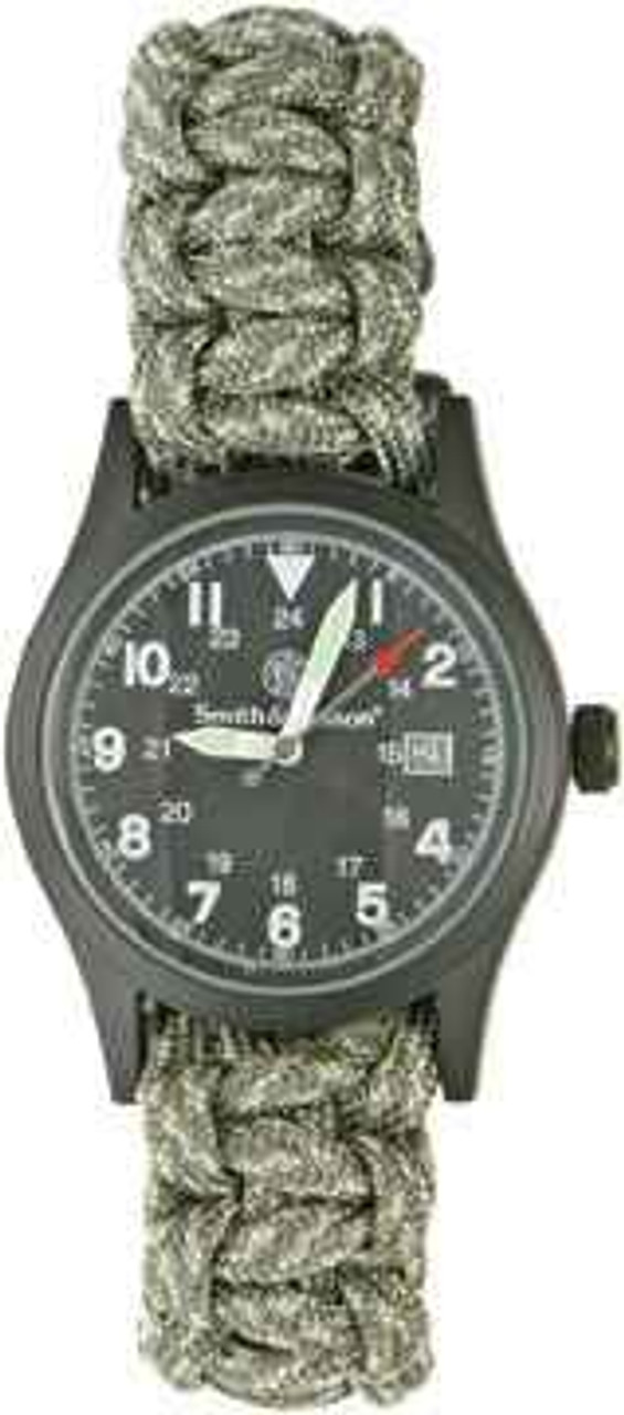 Para Cord Survival Bracelet/Watch. Digital Camo. Size Medium