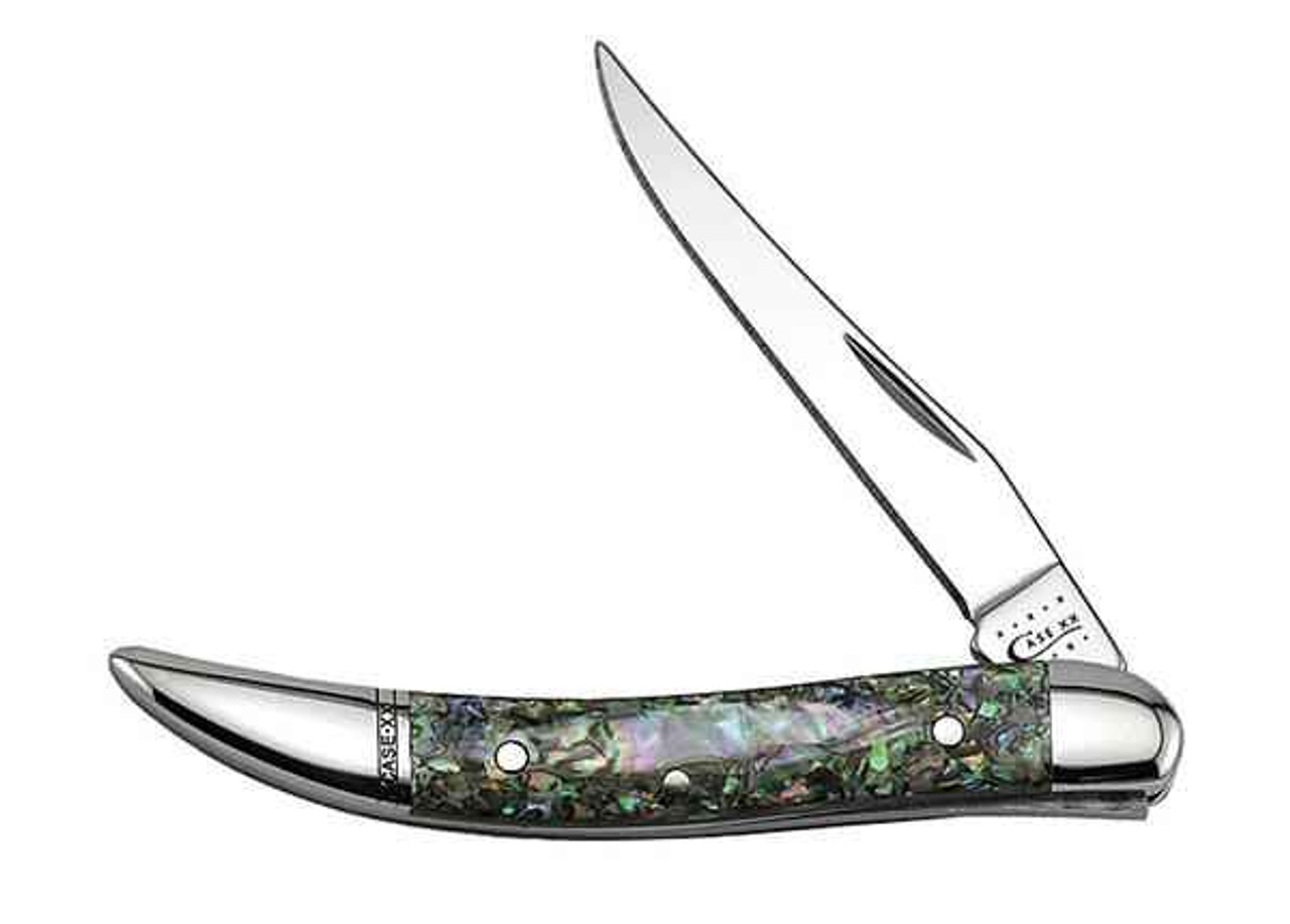 Case 12002 Small Texas Toothpick, Abalone (810096 SS)