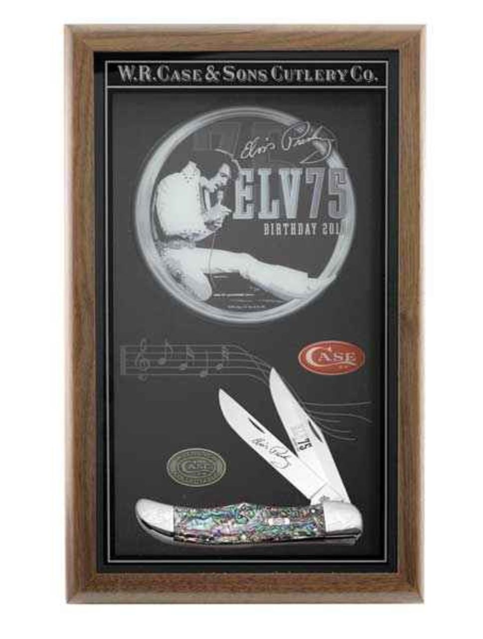 Case 17506 Folding Hunter, Elvis 75th Anniversary Commemorative, Abalone (8265 SS)