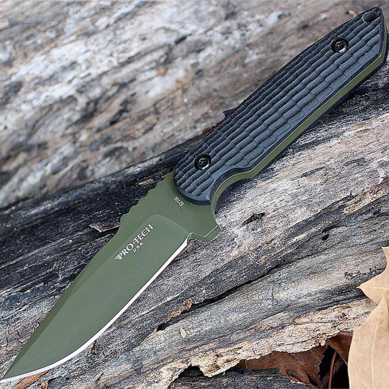 Pro-Tech Rockeye OD Green Fixed Blade