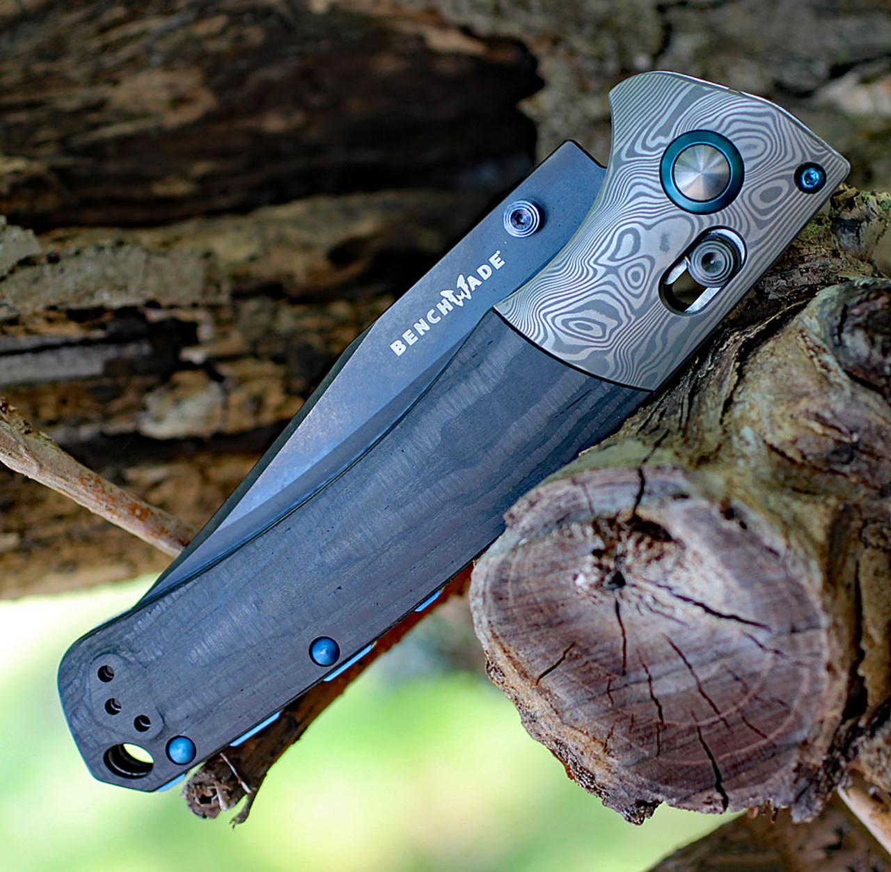 "Benchmade 15080BK-191 Crooked River Gold lass, 4"" CPM-20CV Black Plain Blade, Unidirectional Carbon Fiber Handle"