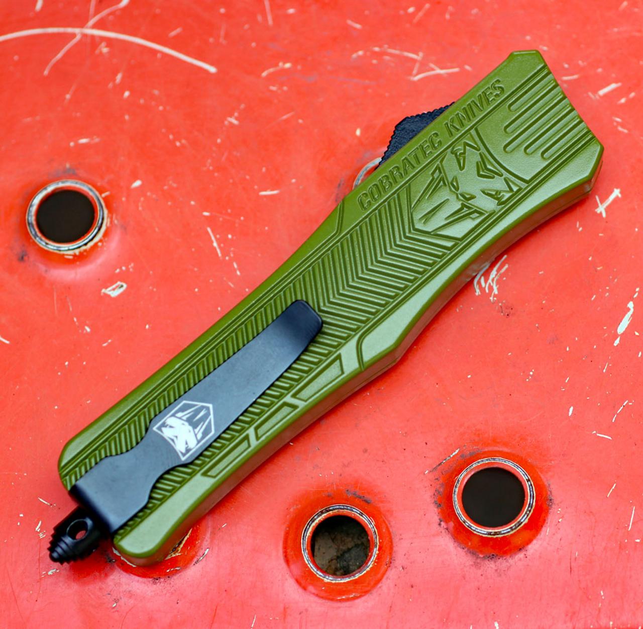 CobraTec Knives MODCTK-1MDAGNS Medium CTK-1 OD-Green, Dagger Blade