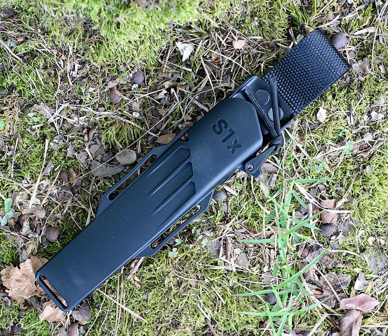 "Fallkniven S1XB S1X Series Black, 5.19"" Lam.CoS Black Tungsten Carbide Blade, Thermorun Handle"