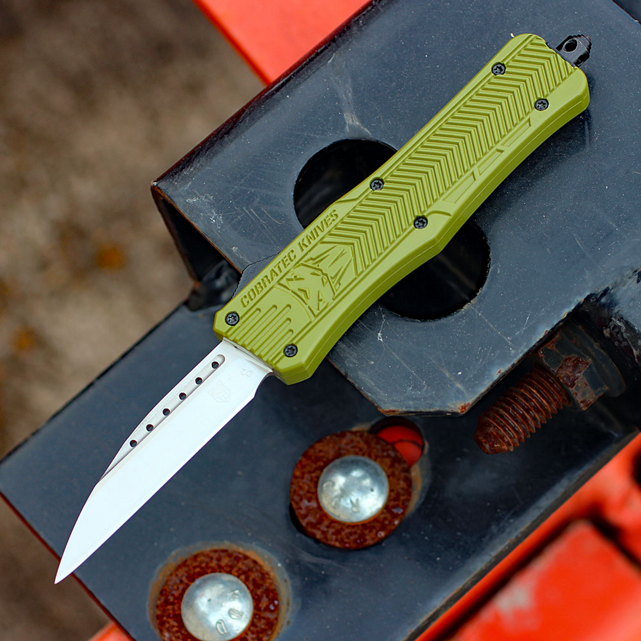 "CobraTec Knives MODCTK-1MWNS Medium CTK-1 OD-Green, 3.0"" D2 Steel Wharncliffe Blade"