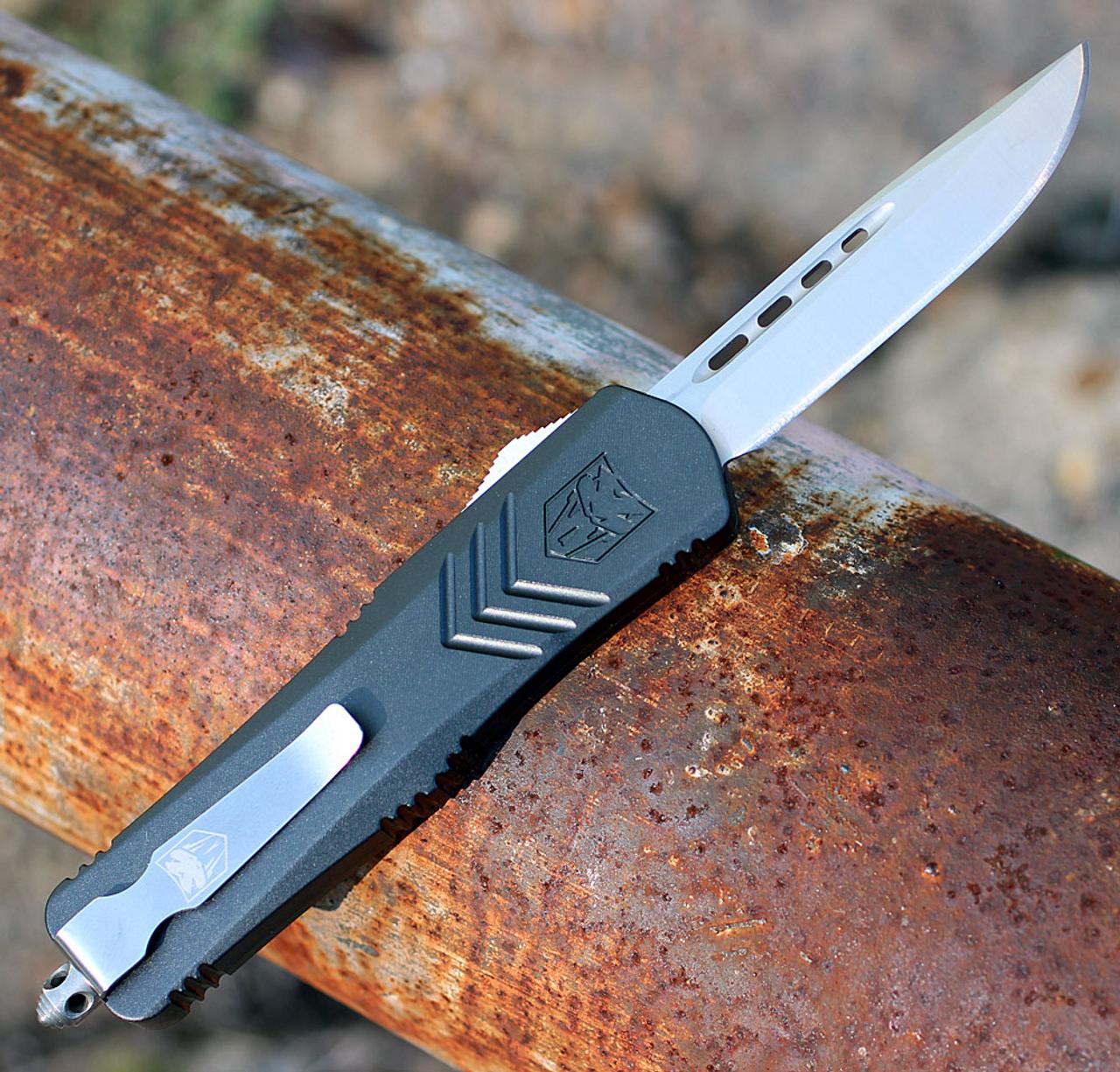 CobraTec Knives MGYFS-XMDNS Medium FS-X Grey, Drop Point Blade, CNC Aviation Aluminum Handle