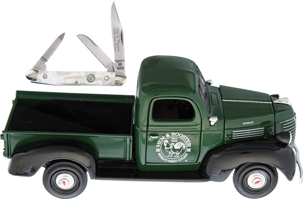 Hen & Rooster Scale Model Pick-up with Knife, HRPU303CI