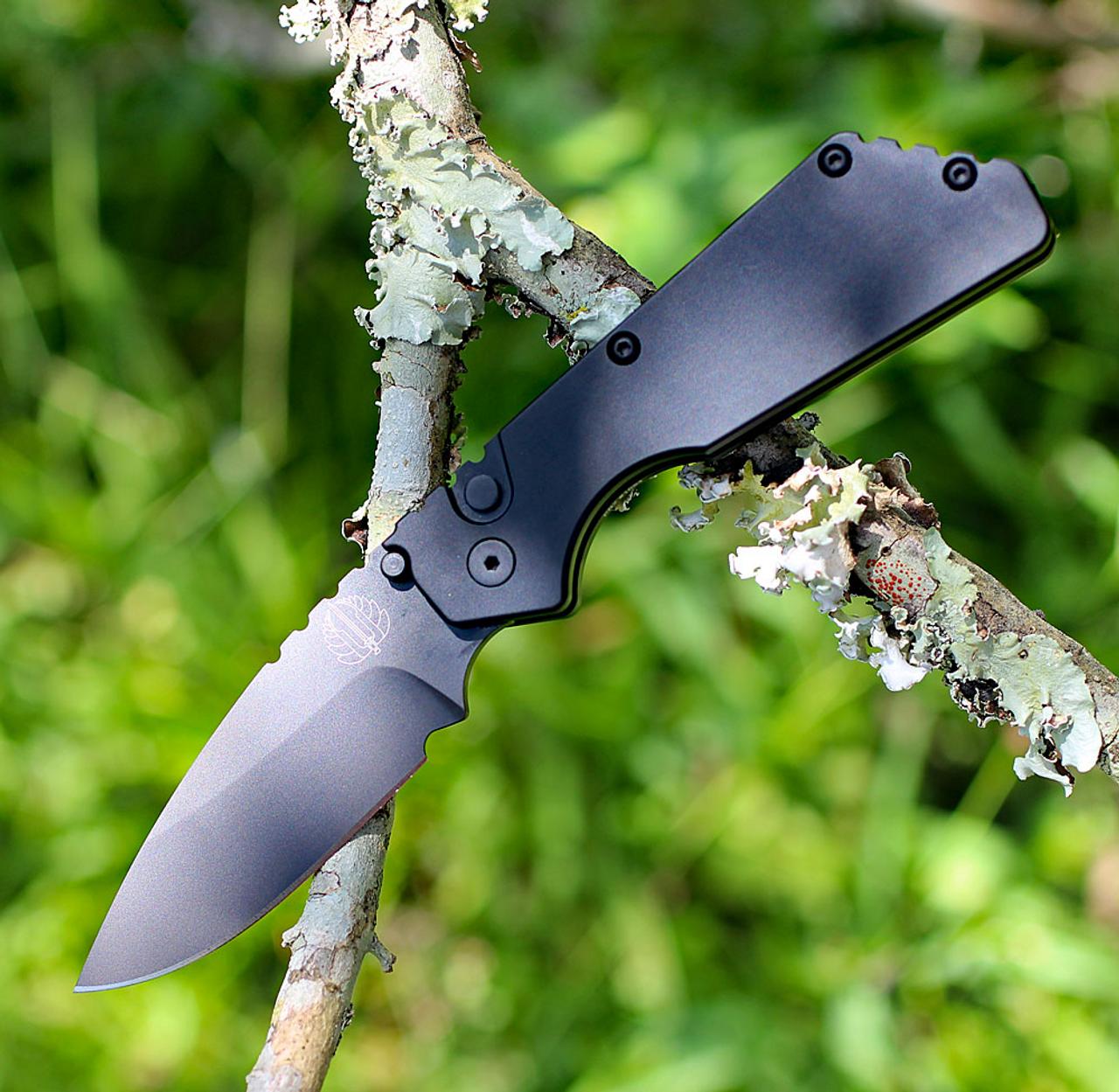 "ProTech 2303 Pro-Strider PT, 2.75"" 154CM Black Blade, Black Aluminum Handle"