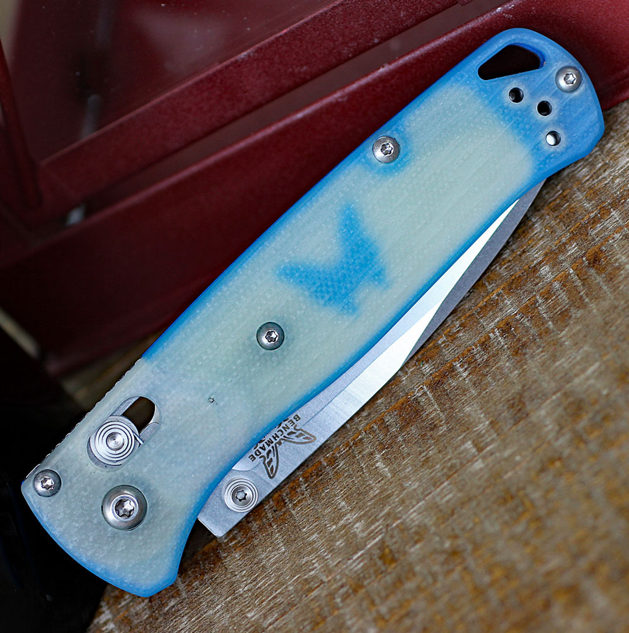 "Benchmade 535-1901 Bugout, 3.24"" CPM-20CV Plain Blade, Natural Jade G10 Handle"
