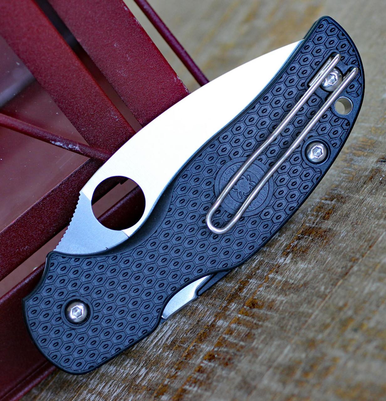 "Spyderco C123PBK Sage 5 Lightweight, 3.00"" CPM S30V Plain Blade, FRN Handle"
