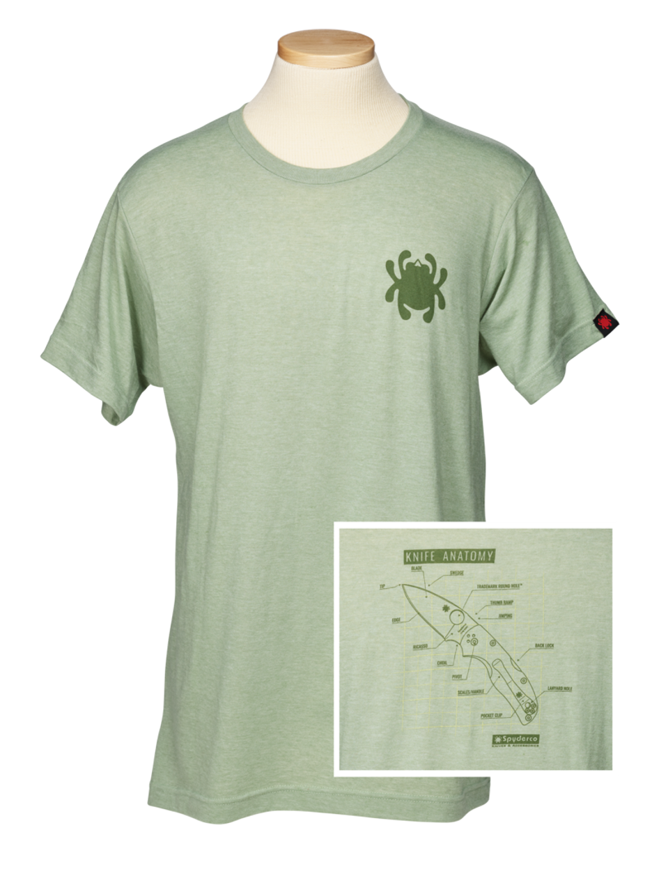 Spyderco TSKA Knife Anatomy T-Shirt