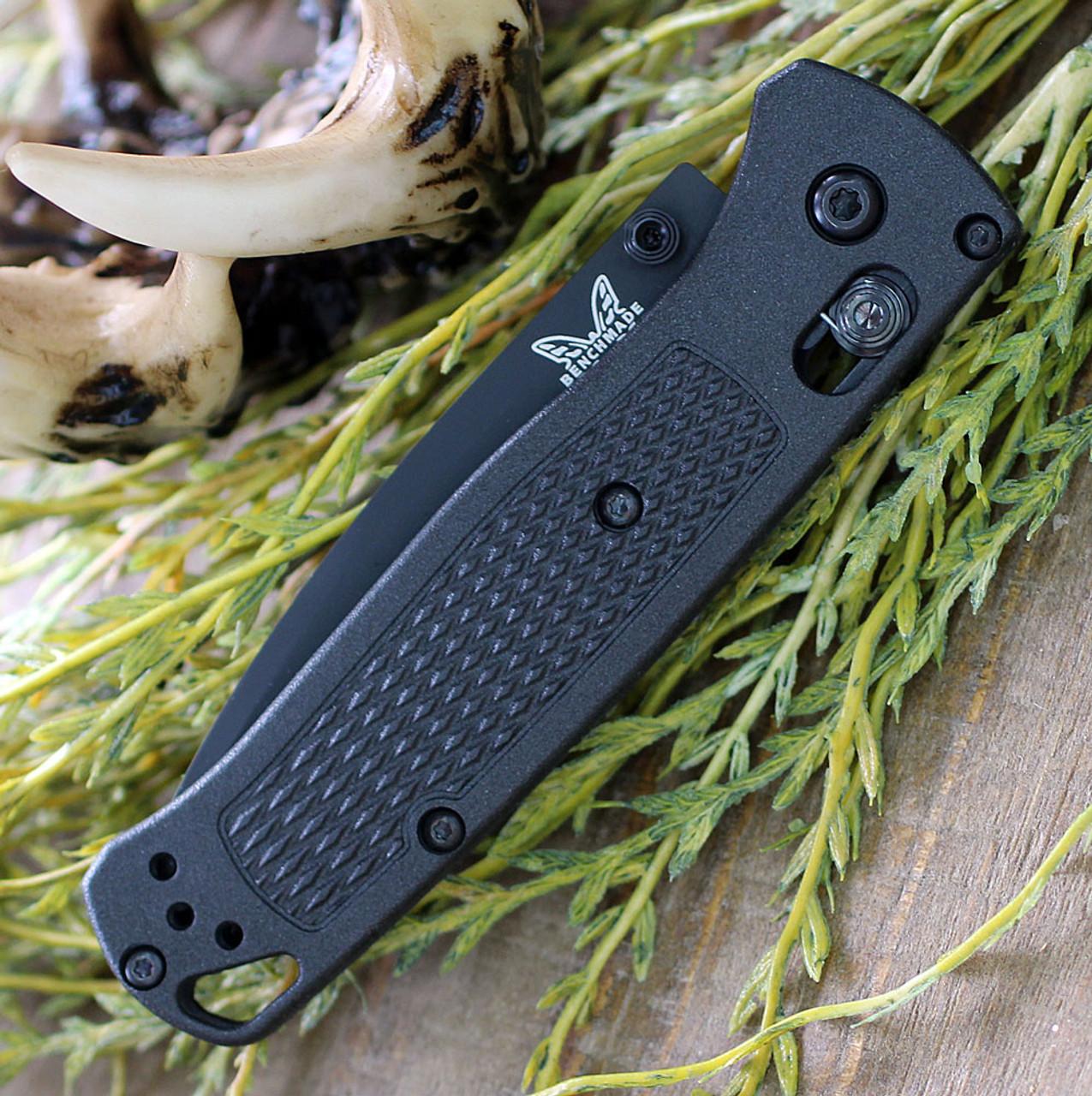 "Benchmade Bugout 535BK-2, 3.24"" CPM-S30V Carbon Coated Plain Blade, CF-Elite Handle"