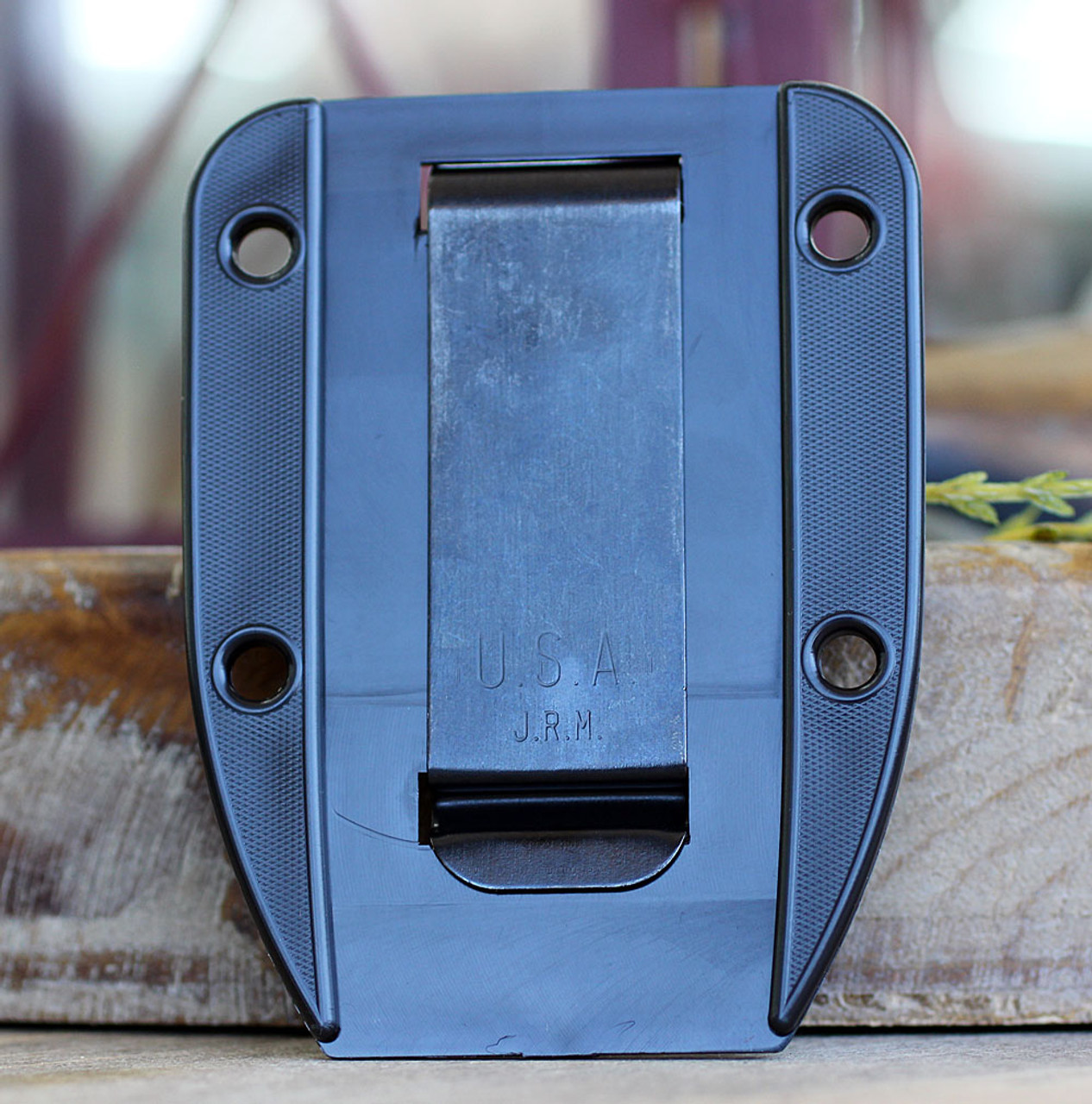 "ESEE-4POD-011, 4.5"" 1095 Carbon Steel OD Green Plain Blade, Natural Canvas Micarta G10 3D Handle, Black Sheath"