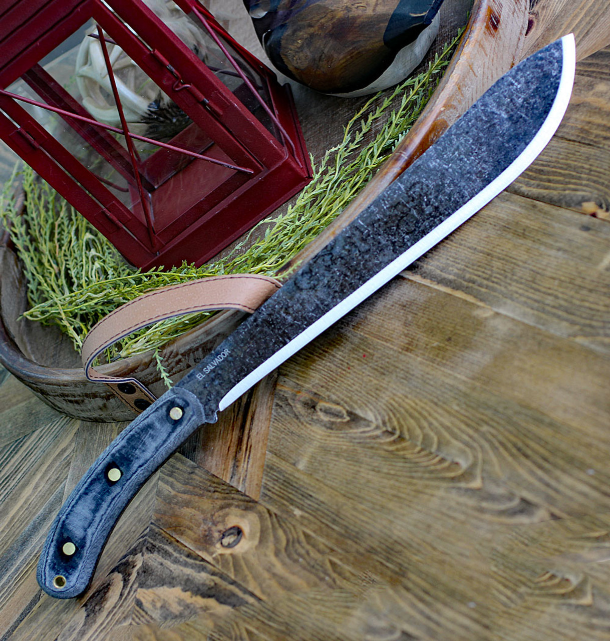 """ESEE Expat Knives Darien Machete, 12.38"""" 1075 Carbon Steel, Micarta Handle"""