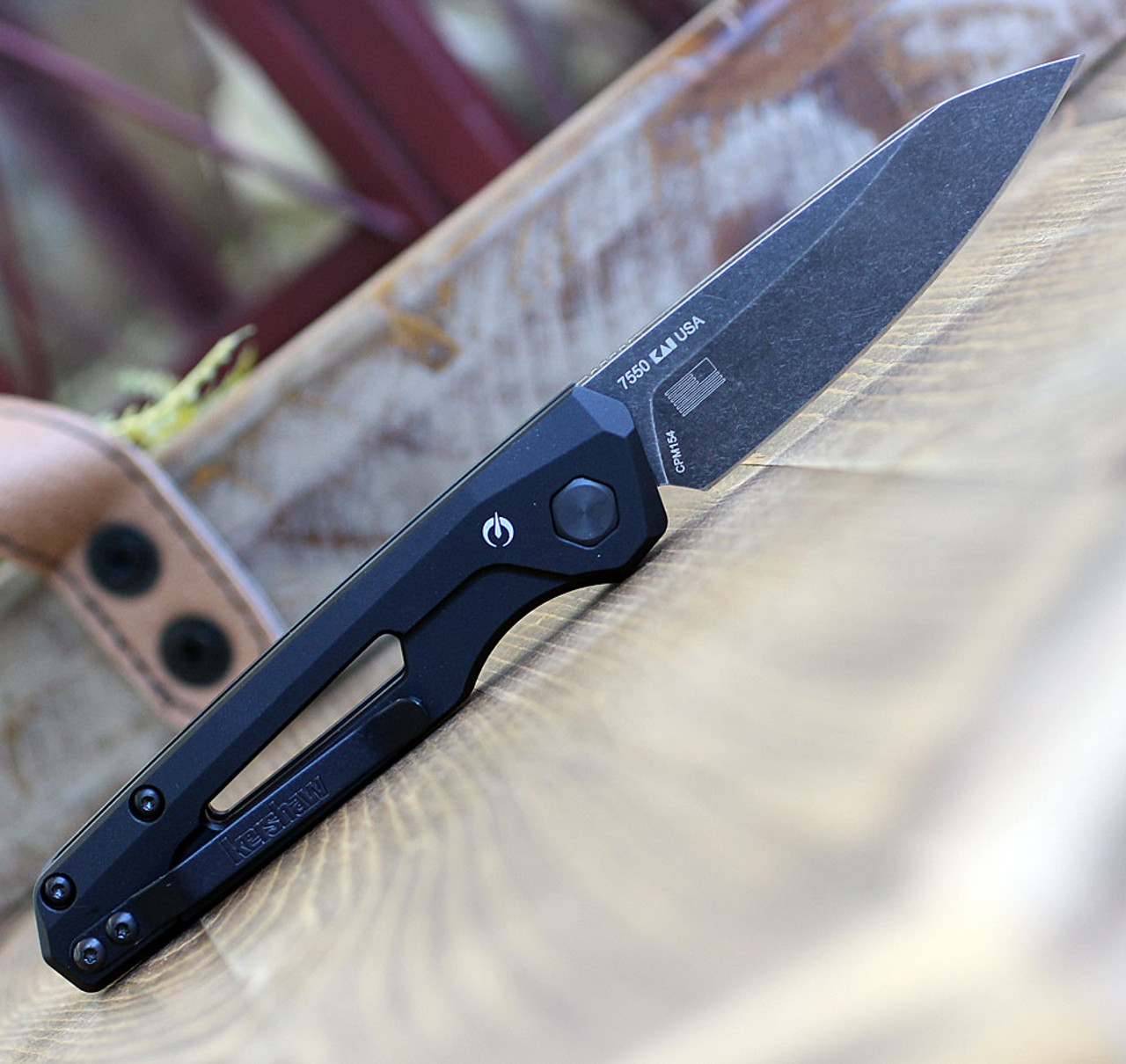 "Kershaw Launch 11, 2.75"" CPM 154 Blackwash Blade, Black Aluminum Handle"