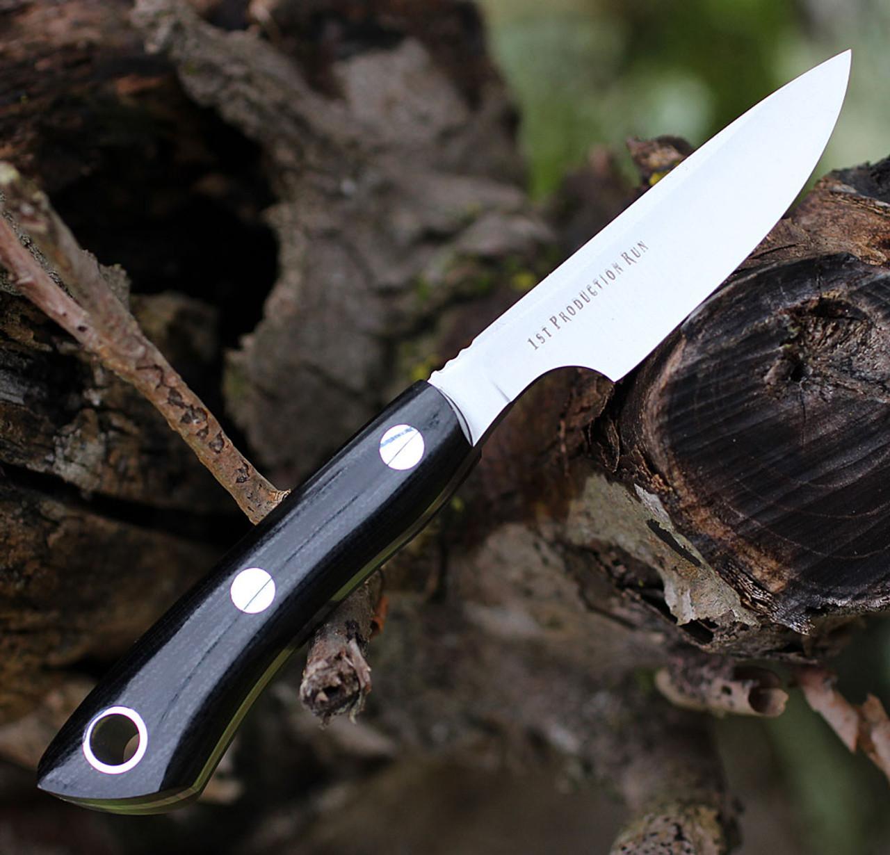 "Bark River Knives Rascal II-BA14152MBC, 3.0"" CPM 154, Black Canvas Micarta Handle"
