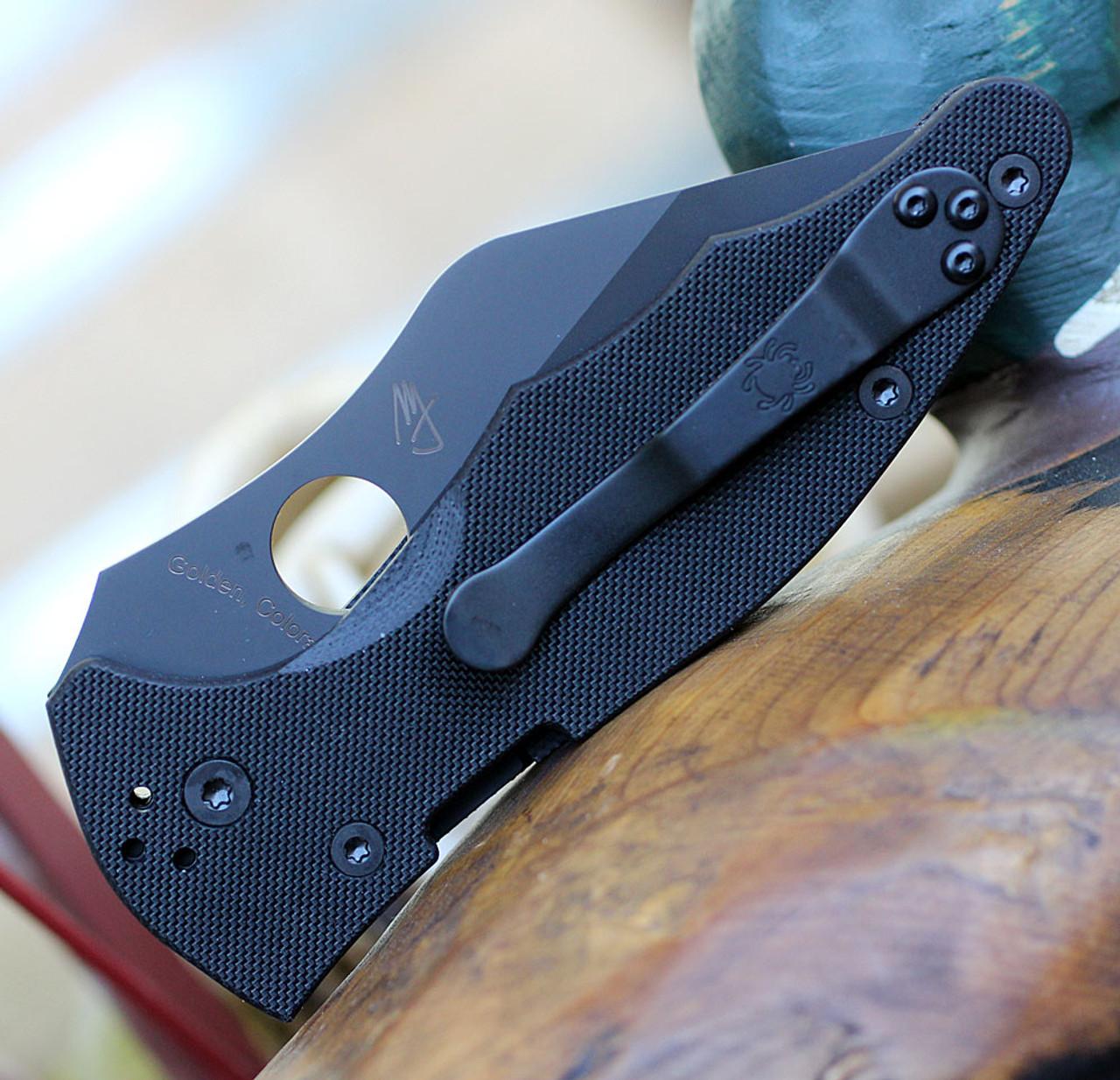 "Spyderco Yojimbo 2 C85GPBBK2, 3.20"" CPM S30V Black Plain Blade, Black G-10 Handle"