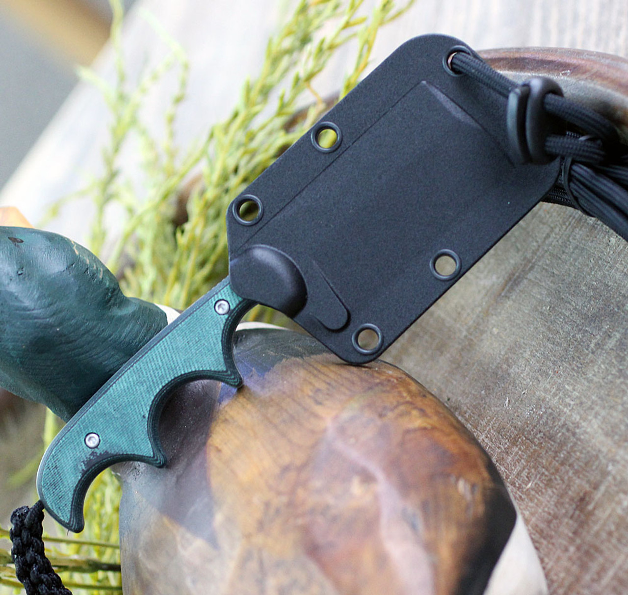 """CRKT Minimalist Cleaver, 2.131"""" 5Cr15MoV Bead Blast Blade, Polised Rasin Infused Fiber Handle"""