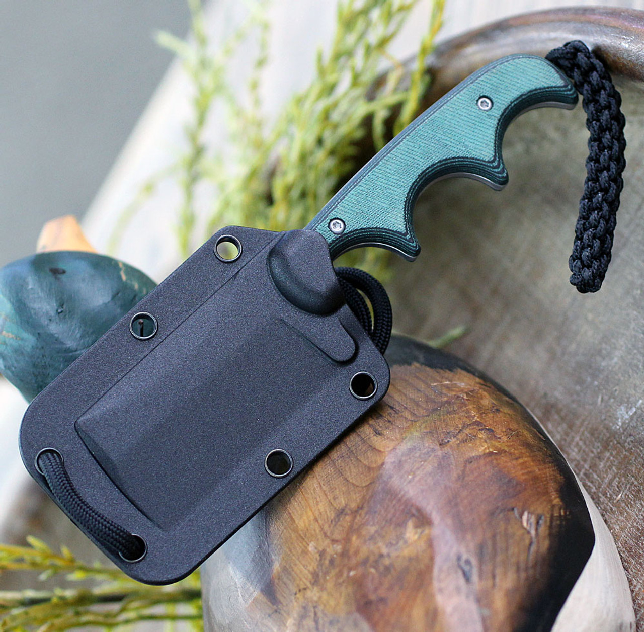 "CRKT Minimalist Cleaver, 2.131"" 5Cr15MoV Bead Blast Blade, Polised Rasin Infused Fiber Handle"