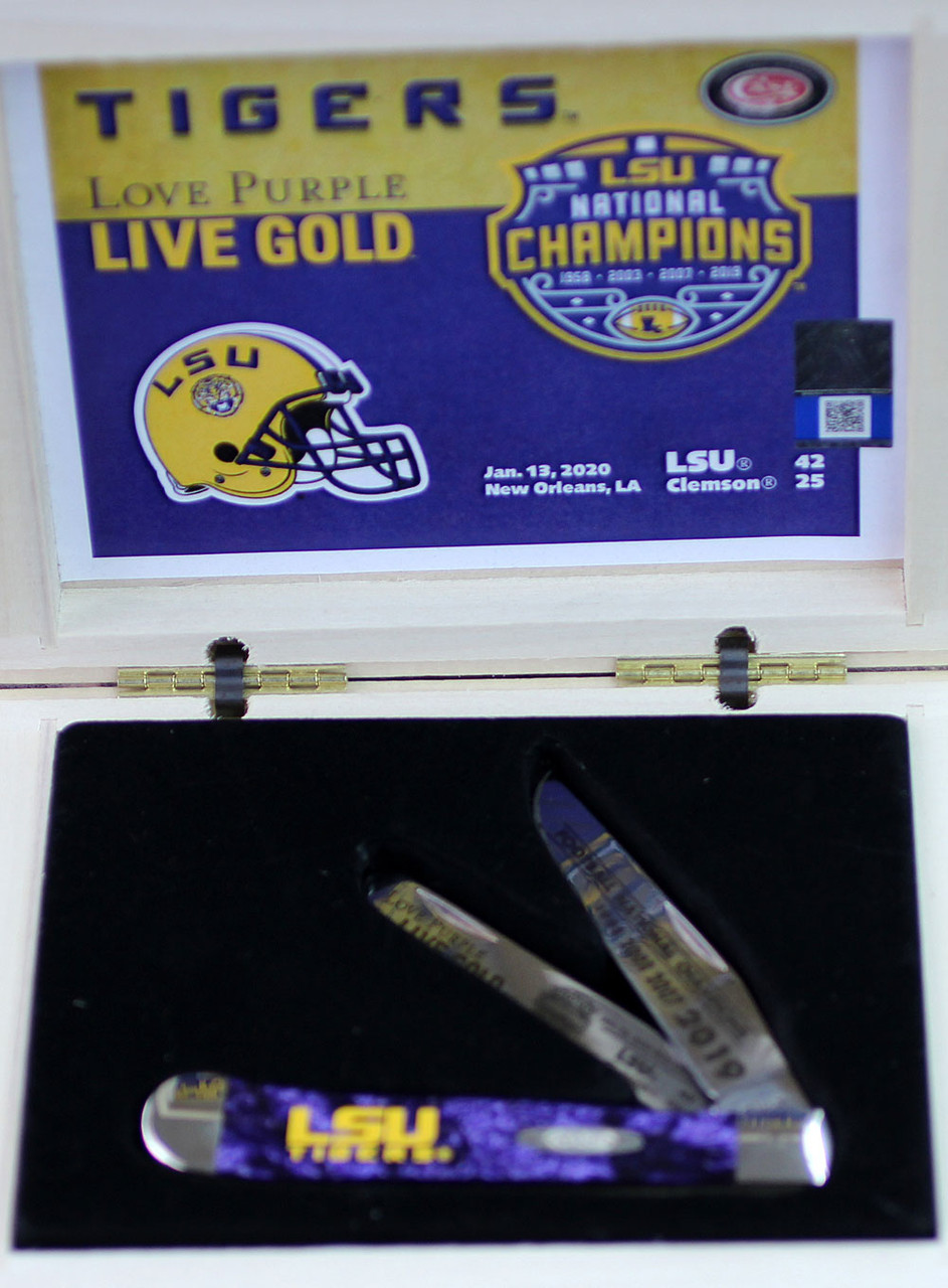 Case LSU19-CATTP Trapper Gift Set, LSU Purple Corelon Handle (9254 SS)