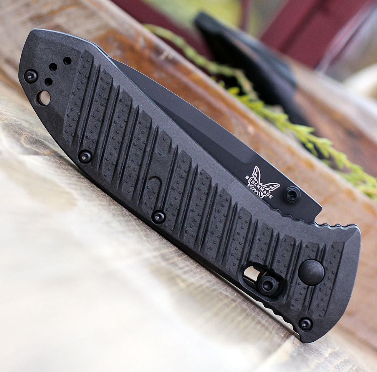 "Benchmade 570SBK-1 Presidio II, 3.72"" CPM-S30V Black Combo Blade, CF-Elite Handle"