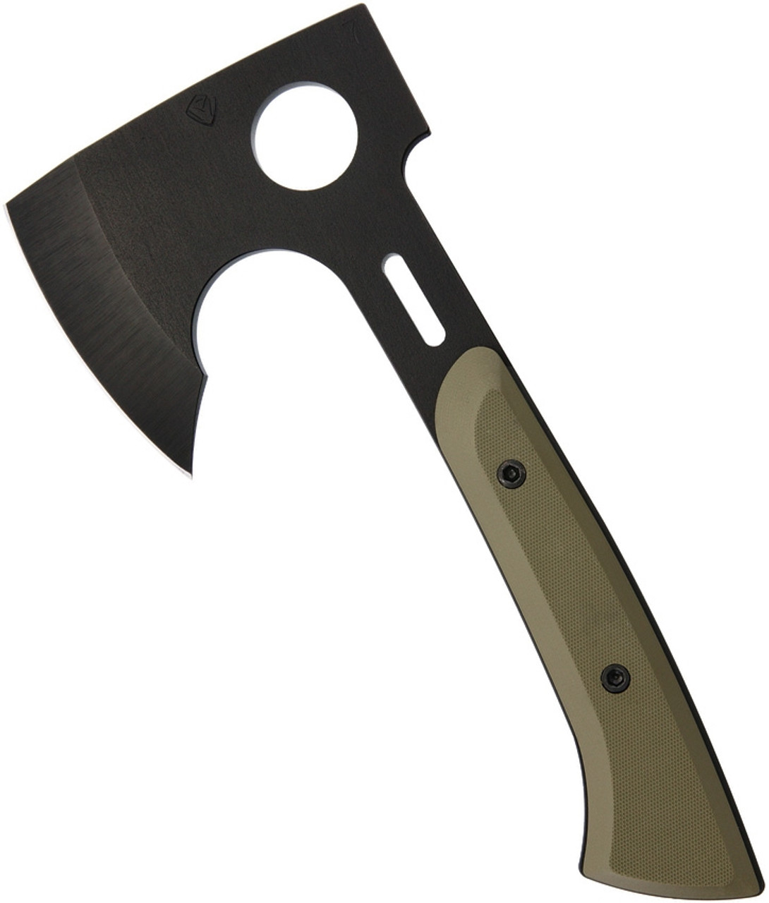 Medford Bearded Hatchet MD967P10KO, 3.5″  PVD Coated CPM S7 Steel,  Green G10 Handle w/ Sheath