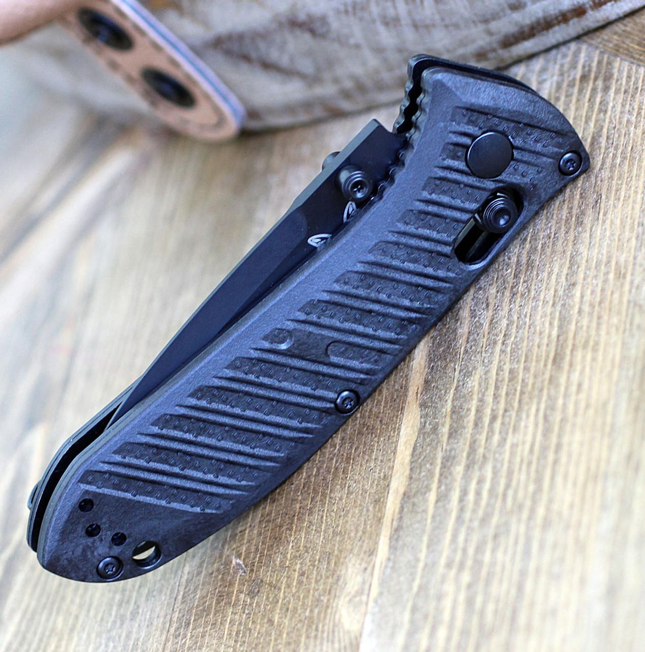 """Benchmade 575BK-1 Mini Presidio II, 3.20"""" CPM-S30V Black Plain Blade, CF-Elite Handle"""