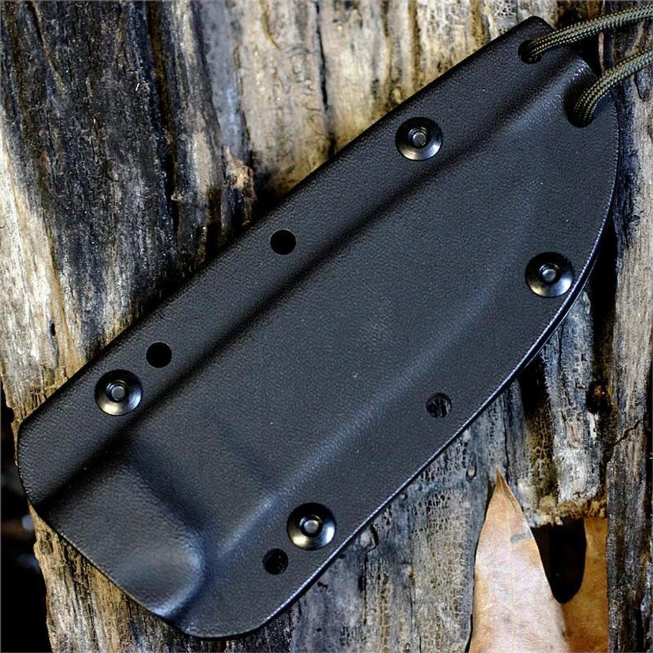*ESEE Model 4SK, Black Kydex Sheath With Clip Plate, Combo Edge No Box