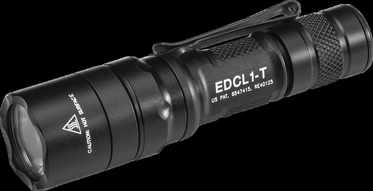 Surefire EDCL1-T Stiletto Multi-Output Rechargeable Pocket LED Flashlight, 5/250/650 Lumens