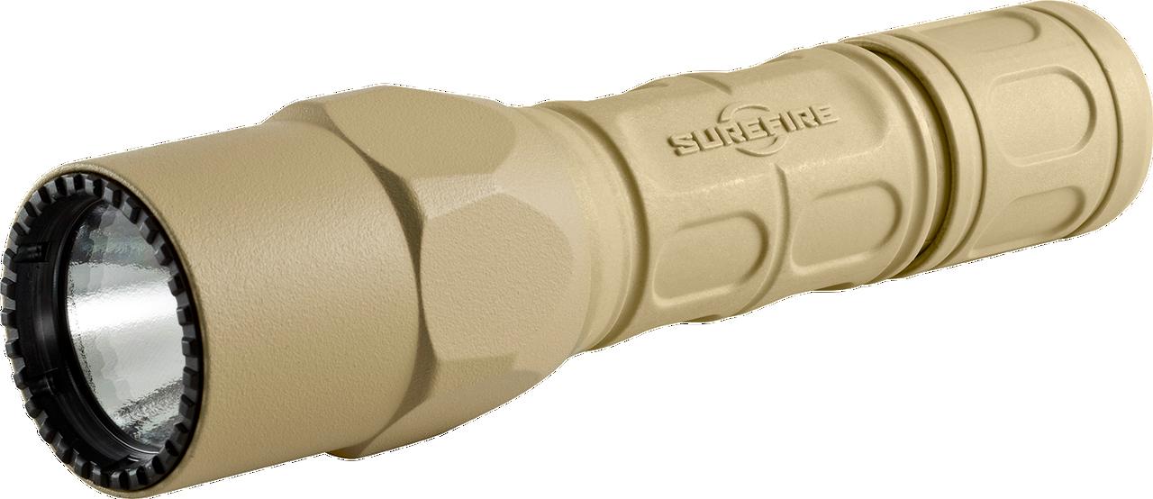 SureFire G2X- Pro Flashlight Tan G2X-D-TN, 6V Dual Stage 15/600 LU