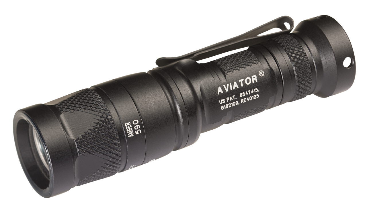 Surefire Aviator-AM, 3 V Dual Output 5/250 LU, White Light  590mW Amber Light