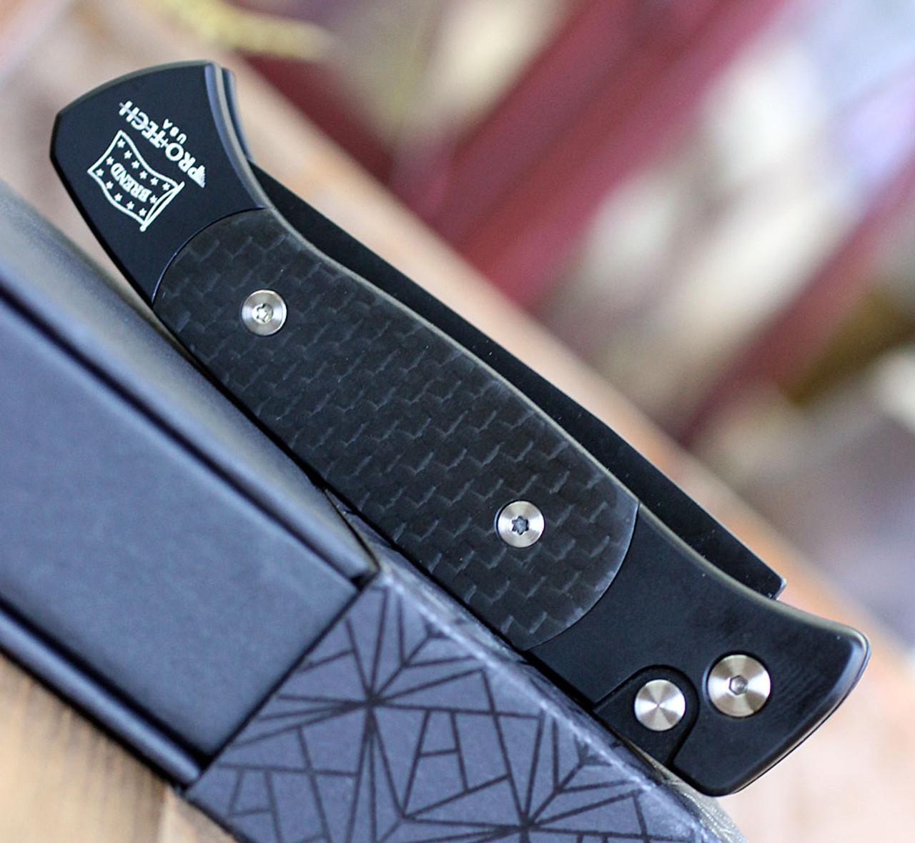 "Pro-Tech Brend 2 1205, 2.90"" 154CM Black Blade, Gray 6061-T6 Aluminum Handle"